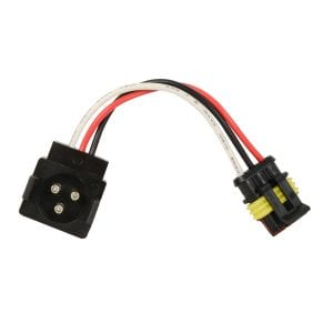 3-PIN LIGHT ADAPTER PLUG FROM ROUND 3-PIN TO STRAIGHT 3-PIN