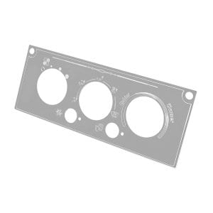 STAINLESS STEEL A/C CONTROL PLATE FOR KENWORTH W&T