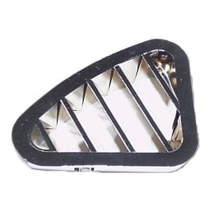 CHROME PLASTIC A/C VENT ADJUSTABLE LOUVER FOR PETERBILT