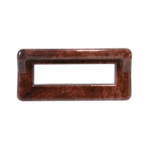 WOOD COLOR SWITCH LABEL BEZEL W/VISOR FOR PETERBILT
