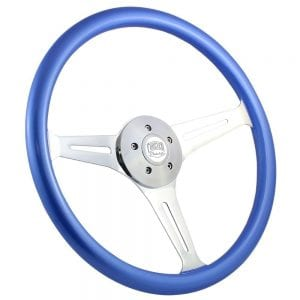 18 Chrome Empire Painted Steering Wheel Frosted Blue