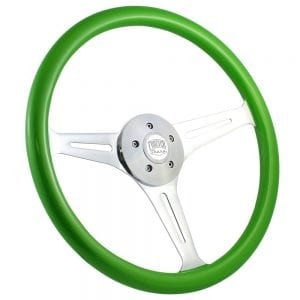 18 Chrome Empire Painted Steering Wheel Green