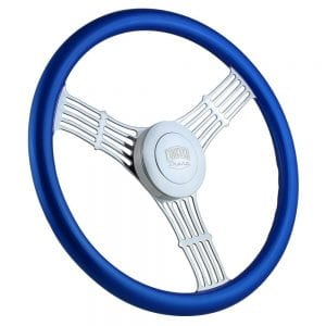 18 Chrome Moonshine Painted Steering Wheel