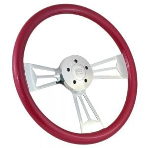 18 Chrome Valor Painted Steering Wheel Raspberry