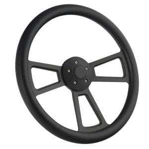 18 Half Wrap Muscle Steering Wheel Black