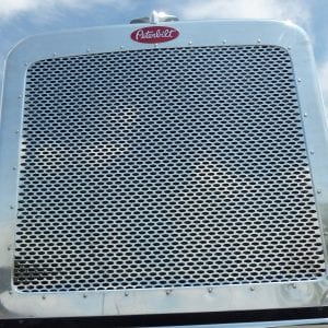 Peterbilt 389 Stainless Punched Grill Insert