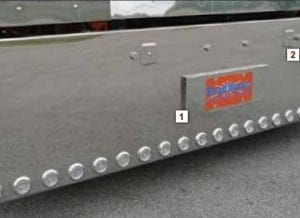 Peterbilt 389 Stainless Spring Mount Tow Pin Covers