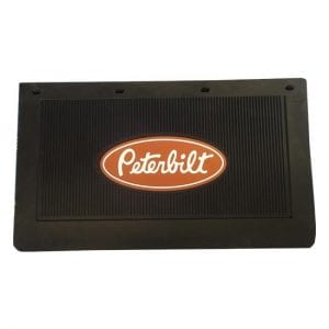 "Black Rubber Mud Flap (Peterbilt Logo) 14"" x 24"""