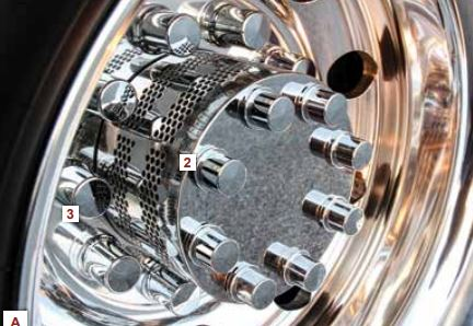 Stainless Drive Axle Hubcovers