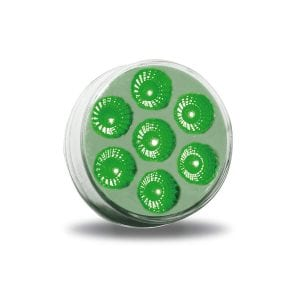 """2"""" Dual Revolution Amber Marker to Green Auxiliary Round LED Light"""