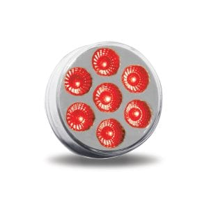 "2"" Dual Revolution Red Marker to White Auxiliary Round LED Light"