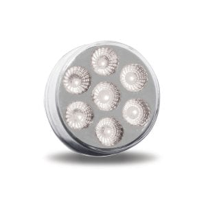"""2"""" Dual Revolution Red Marker to White Auxiliary Round LED Light"""