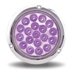 4″ Dual Rev. Red Stop, Turn & Tail to Purple Auxiliary LED w/ Flange