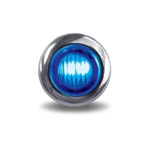 """Dual Revolution Red to Blue Auxiliary 3/4"""" LED Button Light"""