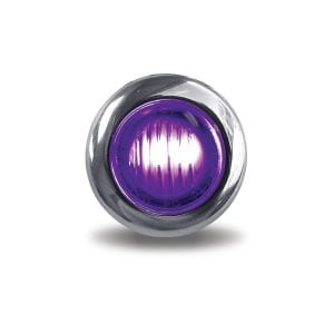 """Dual Revolution Amber to Purple Auxiliary 3/4"""" LED Button Light"""