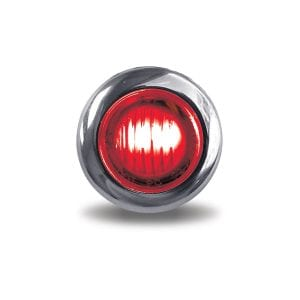 """Dual Revolution Red Stop, Turn & Tail to White Back-Up 3/4"""" Button LED"""