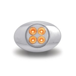 "Dual Revolution Amber to Blue Auxiliary LED ""M1"" Marker Light"