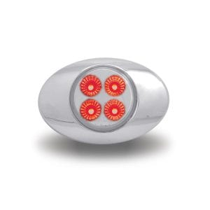 "Dual Revolution Red to Blue Auxiliary LED ""M1"" Marker Light"