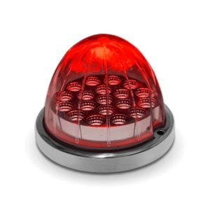 Dual Revolution Red to Blue Auxiliary Watermelon LED Light w/ Bezel