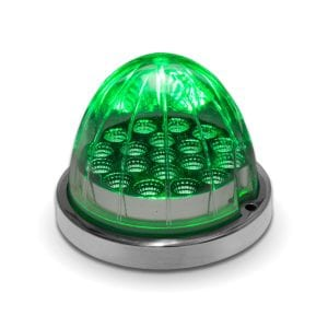 Dual Revolution Amber to Green Auxiliary Watermelon LED Light w Bezel