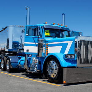 Sky Blue Peterbilt 379 at the 2018 Shell Rotella SuperRigs Truck Show