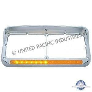 Sequential LED Dual Headlight Bezel w/ Visor