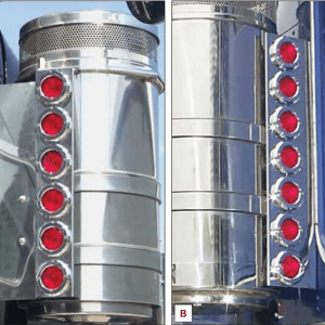 "Kenworth 15"" Donaldson Breather Rear Light Panels"