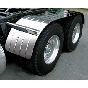 Stainless Steel Full Fender with Beaded Edge (4 Rib)