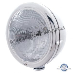 Classic Peterbilt 359 Single Round Headlight - Halogen