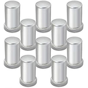 Grand General Tube Chrome Plastic screw on Lug Nut Covers 10