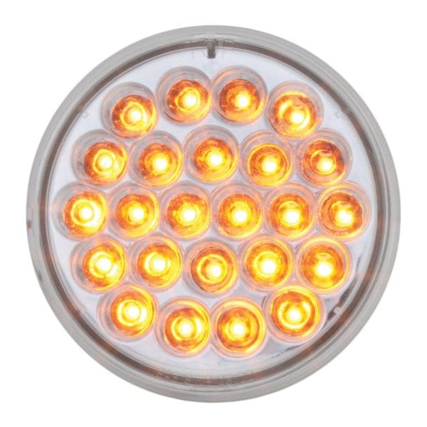 4 in grand general amber clear pearl led
