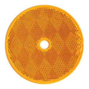 "3-1/4"" amber reflector with center hole"