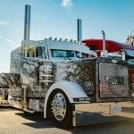 white flame peterbilt 2019 75 chrome shop