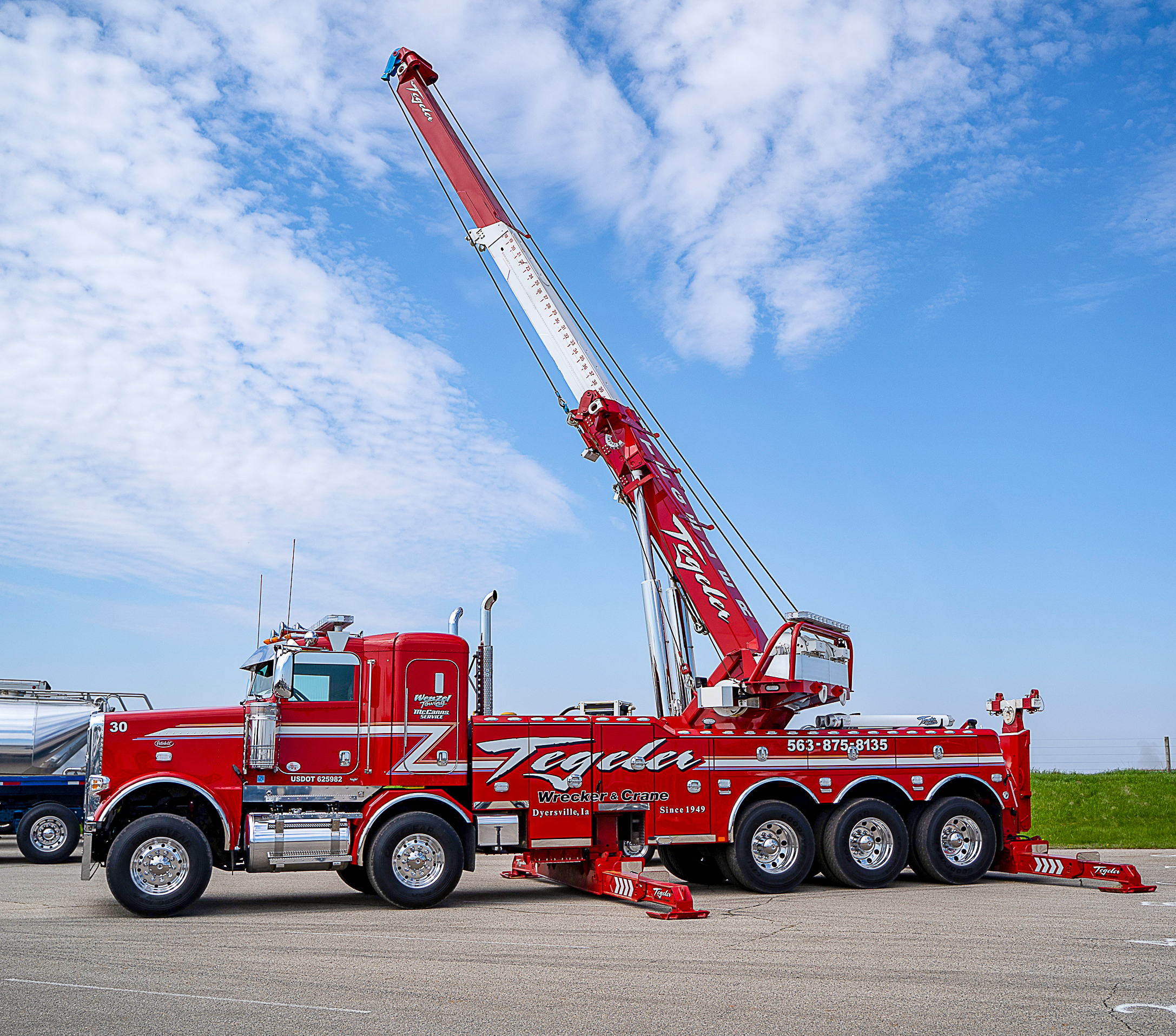 red truck crane 2019 pride in your ride