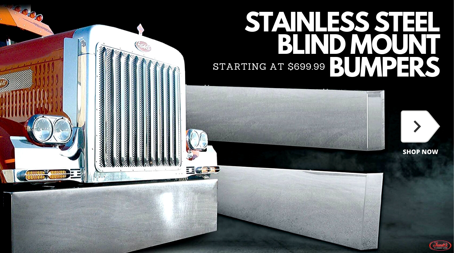Blind Mount Bumpers - Stainless Steel