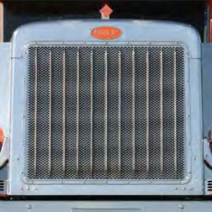 Peterbilt 379 Regular Hood Grille Insert - Punched Stainless Steel