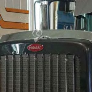 Peterbilt 389 Hood Shield - Stainless Steel