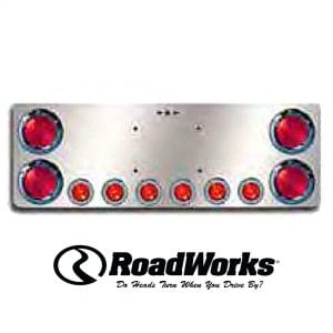 12 Inch Rear Center Panel - (4) 4 Inch Round Lights, (6) 2 Inch Lights and License Plate Holes
