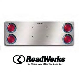 12 Inch Rear Center Panel - (4) 4 Inch Round Lights and License Plate Holes