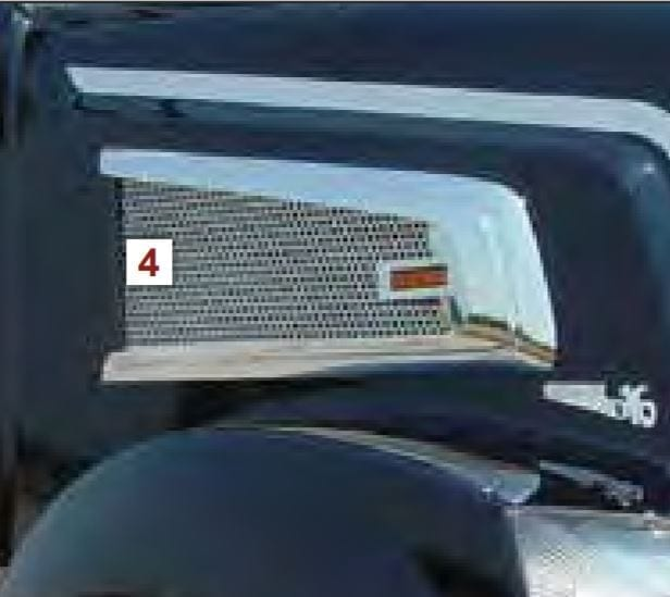 "Air Intake Screens with Small 1/4"" Circles - Volvo VT880"