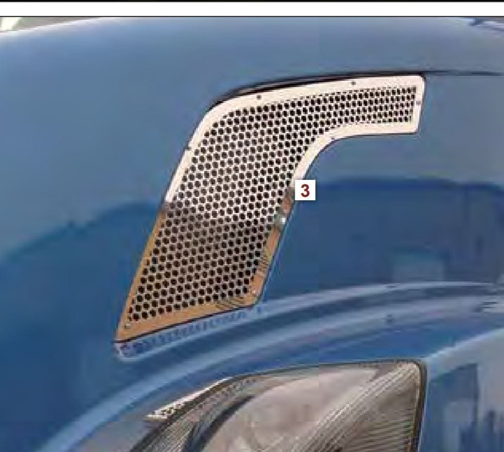 "Intake Screen with Small 1/4"" Circles - Volvo Gen. 2 VN"