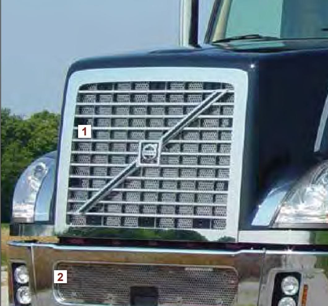 """Punched Grille with Small 1/4"""" Circles - Volvo VT"""