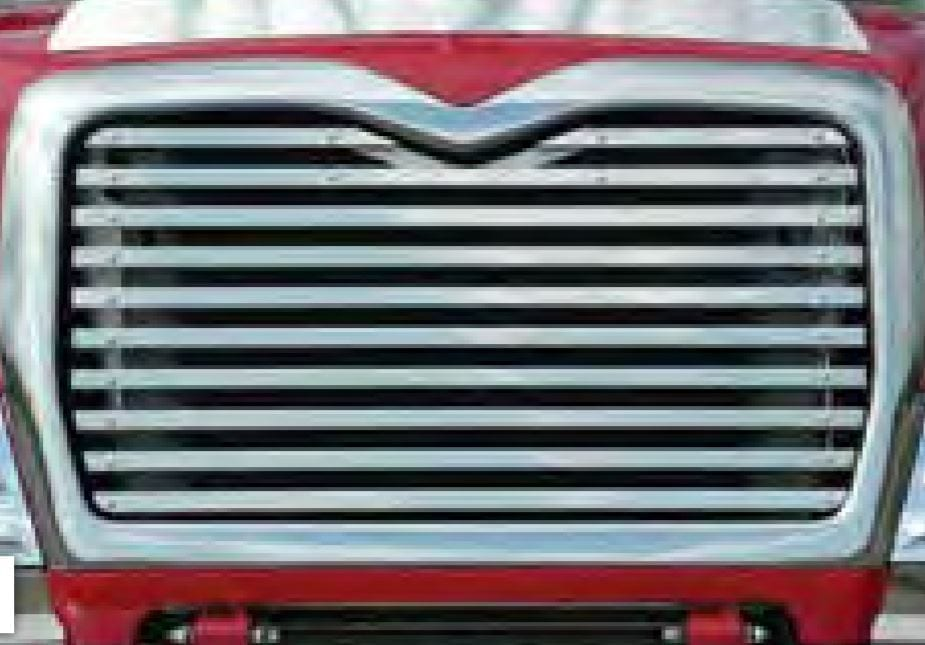 Replacement Grill with 10 Horizontal Bars - Mack CV713 (2002-2007)