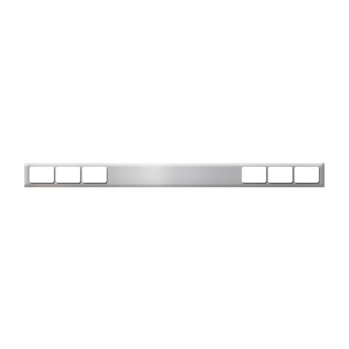 CHROME ONE PIECE REAR LIGHT BARS WITH RECTANGULAR (6) LIGHTS